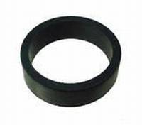 Flipper Rubber BLACK 1/2