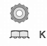 K2 - #6-32 Keps Nut (with 1/4