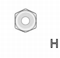 H7 - #2-56 Hex Nut  /piece