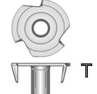 T5 - #10-32 T-Nut (with Side Cut Off)  /piece