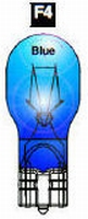 F4 - #906 Wedge Base Bulb (Clear) BLUE  /piece