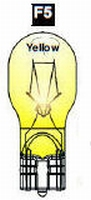 F5 - #906 Wedge Base Bulb (Clear) YELLOW  /piece
